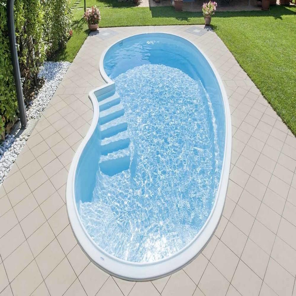 Quanto Costa Piscina Interrata piscina in vetroresina prefabbricate interrata mod barbados misure cm 4,02  x 7,75 x h1,53