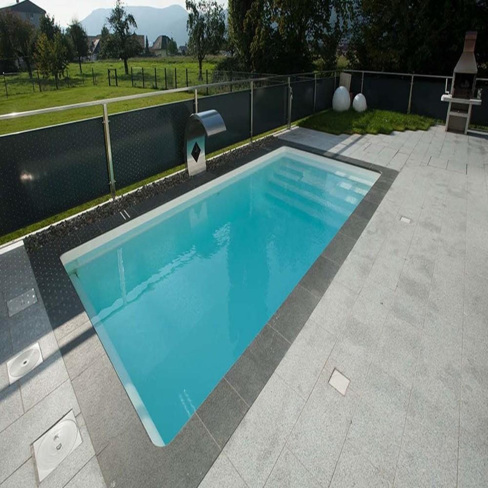 Piscine Interrate Prezzi Tutto Compreso piscina in vetroresina prefabbricate interrata mod granada misure cm 3,00 x  6,00 x h1,53