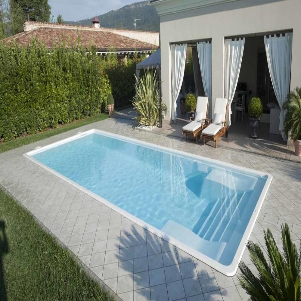 Piscine Interrate Prezzi Tutto Compreso piscina in vetroresina prefabbricate interrata mod palma misure cm 4,00 x  10,00 x h1,53