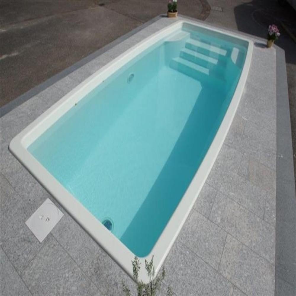 Piscina in vetroresina prefabbricate interrata mod kreta misure cm 240 x 500 x h133 - Piscine prefabbricate vetroresina ...