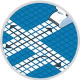Programma di scansione avanzato Indipendente dall'impianto di filtrazione della piscina, segue uno scanning logico di pulizia e non richiede nessun tipo di programmazione.